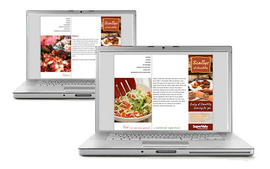 Scallys Spervalu Website